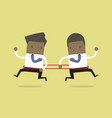 businessman are running opposite direction vector image