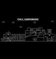 campobasso silhouette skyline italy - campobasso vector image vector image