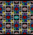checkered greek seamless pattern vector image