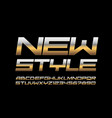 chic banner new style trendy elite font vector image vector image