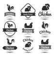 chicken label 3 vector image