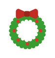 christmas crown isolated icon vector image