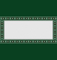 christmas rectangle template frame banner vector image vector image