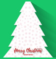 christmas tree with green background vector image vector image