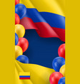 colombian patriotic banner with space for text vector image vector image
