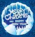 congratulations on christmas and new year vector image vector image