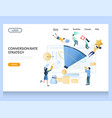 conversion rate strategy website landing vector image