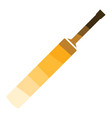 cricket bat icon vector image