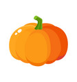 cute cartoon style pumpkin halloween vector image vector image