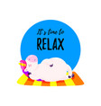 cute with unicorn template vector image