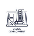 design development line icon concept design vector image vector image