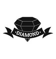 diamond logo simple black style vector image vector image