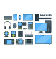 different modern electronic devices flat vector image vector image
