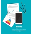 document office work time supply icon vector image vector image