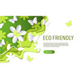 eco friendly website landing page design vector image