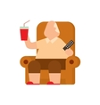 Fat human silhouette flat vector image