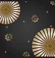 festive banner background with gold snowflakes and vector image vector image
