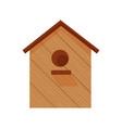 Flat wooden birdhous