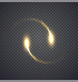 gold glittering star dust lights circle vector image