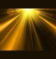 golden star sun with lens flare vector image