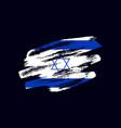 grunge textured israeli flag vector image