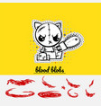 halloween sewing evil cat kitty vector image vector image