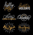 happy holidays best wishes merry bright christmas vector image vector image