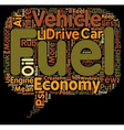 How to Get Better Fuel Economy text background vector image vector image