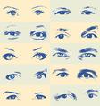 Human eyes set vector image vector image