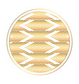 isolated art deco circle design vector image