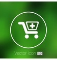 isolated shopping cart icon with a vector image vector image