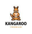 kangaroo thumb up mascot character logo icon vector image