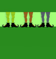 leprechaun legs vector image vector image