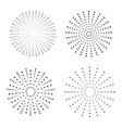 light rays burst vector image vector image