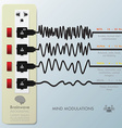 Mind Modulations Brainwave Infographic vector image vector image