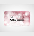 modern pink gift card template vector image vector image