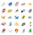 movement icons set isometric style vector image vector image