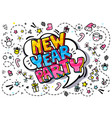 new year party word bubble vector image vector image