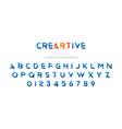 original font in blue colour for creative design vector image vector image