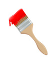 paint brush and red paint vector image vector image