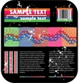 psychedelic background and barcode vector image vector image