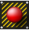 Red alarm shiny button vector image