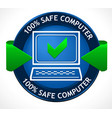 safe pc badge vector image