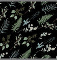 seamless floral pattern in vintage style vector image