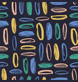 seamless pattern with rough oval brush strokes on vector image