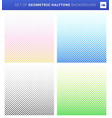 set geometric halftone style on white vector image vector image