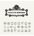 Set template letters to create monograms e vector image vector image