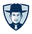 simple sheriff in a badge logo vector image vector image