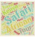 Spend Your Holiday on an Exotic African Safari vector image vector image