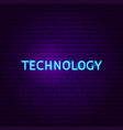 technology text neon label vector image vector image